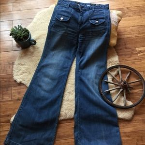 X2 Quality Denim, high wasted wide leg jeans